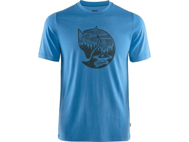 Fjällräven Abisko Fox T-shirt Laine Homme, uncle blue